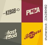 set of unique fast food logo... | Shutterstock .eps vector #226280482