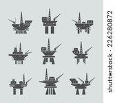 oil platform icons set | Shutterstock .eps vector #226280872