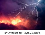 lightning in front of a... | Shutterstock . vector #226282096