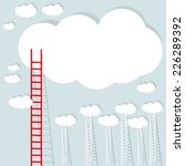 big red ladder from cloud with... | Shutterstock .eps vector #226289392