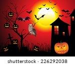 abstract halloween background... | Shutterstock .eps vector #226292038