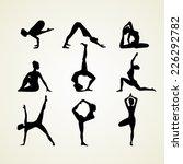 vector illustration of yoga... | Shutterstock .eps vector #226292782