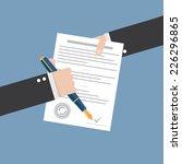 vector agreement icon   hand... | Shutterstock .eps vector #226296865
