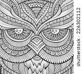 decorative ornamental owl... | Shutterstock .eps vector #226302112