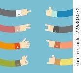 set of flat hands design ... | Shutterstock .eps vector #226306072