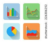 flat graph icons. vector...