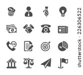 business and economic icon set  ... | Shutterstock .eps vector #226306522