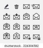 mail icon | Shutterstock .eps vector #226306582