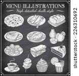 vector chalkboard food... | Shutterstock .eps vector #226310692