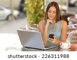 self employed woman working... | Shutterstock . vector #226311988