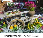 Trolley With Beautiful Flowers...