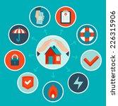 vector house insurance concept... | Shutterstock .eps vector #226315906