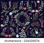 vector collection of vintage... | Shutterstock .eps vector #226320076