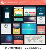 set of flat ui ux elements for... | Shutterstock .eps vector #226323982