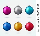 colorful christmas balls. set... | Shutterstock .eps vector #226324162