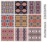 set of different seamless... | Shutterstock .eps vector #226326496