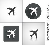 plane icons. set elements for...