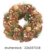 Christmas Wreath With Cones...