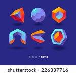 vector 3d icons  set 3   | Shutterstock .eps vector #226337716