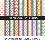 20 colorful zigzag seamless... | Shutterstock .eps vector #226342918
