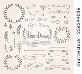 set of hand drawn design... | Shutterstock .eps vector #226344016