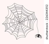 spider and web | Shutterstock .eps vector #226344352