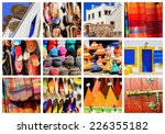 colorful collage and...   Shutterstock . vector #226355182