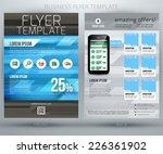 abstract vector business flyer... | Shutterstock .eps vector #226361902