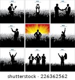 posters with successful... | Shutterstock .eps vector #226362562