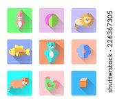 set of vector colorful kids... | Shutterstock .eps vector #226367305