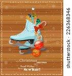 Winter Blue Christmas Skates I...
