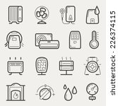 vector climatic equipment icon... | Shutterstock .eps vector #226374115