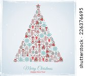 christmas card design. vector... | Shutterstock .eps vector #226376695