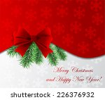 christmas abstract card.  | Shutterstock .eps vector #226376932