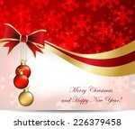 christmas abstract card.... | Shutterstock .eps vector #226379458