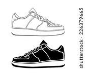 running shoe icon sneakers...   Shutterstock .eps vector #226379665