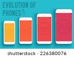 mobile electronic devices on... | Shutterstock .eps vector #226380076