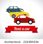 rent a car design over white... | Shutterstock .eps vector #226384336