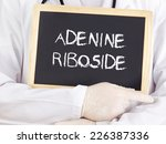 Small photo of Doctor shows information: adenine riboside