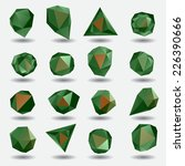 green diamond polygon triangle... | Shutterstock .eps vector #226390666