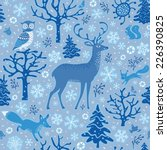 Winter Forest Background....