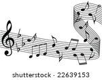 music notes background | Shutterstock .eps vector #22639153