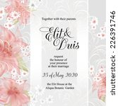 wedding invitation | Shutterstock .eps vector #226391746