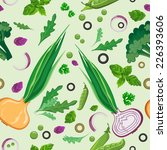fresh vegetables and greens... | Shutterstock .eps vector #226393606