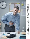 stressed businessman with...   Shutterstock . vector #226394005