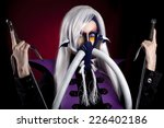 beautiful girl in anime style... | Shutterstock . vector #226402186