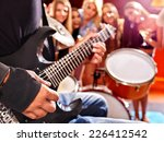 group peole playing  drum in... | Shutterstock . vector #226412542