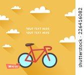 Vintage Bike In Flat Design An...