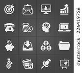 business and finance icons on... | Shutterstock .eps vector #226419736