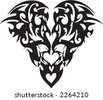 vector tribal tattoo of a heart | Shutterstock .eps vector #2264210